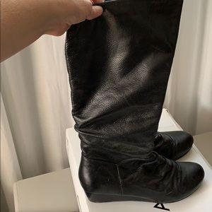 Aldo Black Leather Boots